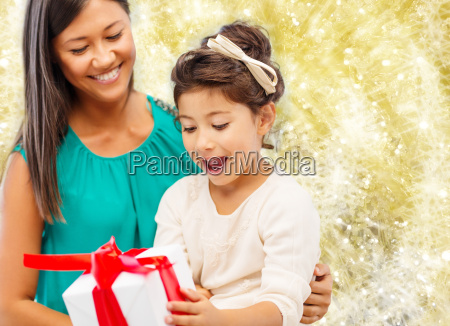 happy mother and little girl with