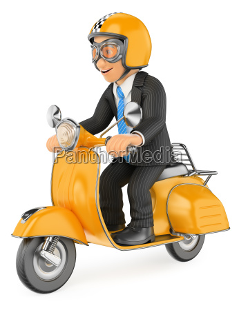 3d businessman going to work by