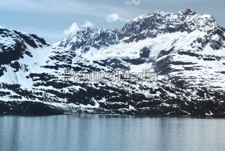 mountain range in glacier bay national