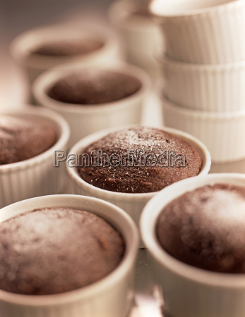 close up of chocolate cakelettes and
