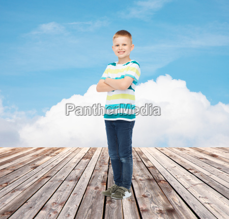 little boy in casual clothes