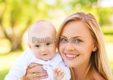 close up of happy mother with