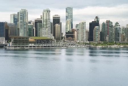 vancouver skyline ansicht von im stadtzentrum