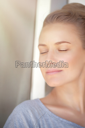 calm woman portrait