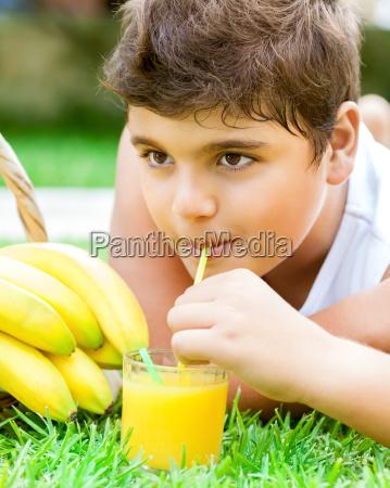 happy healthy boy portrait