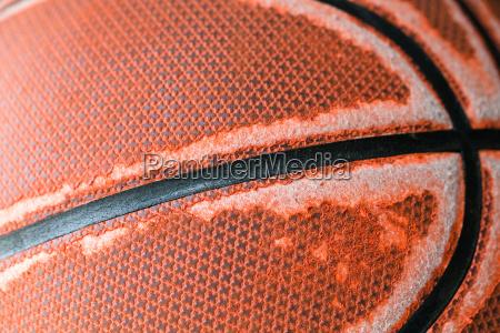 old basketball close up