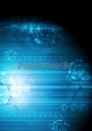 abstrakt dunkelblau tech hintergrund