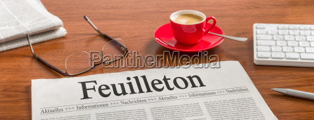 newspaper desk feuilleton