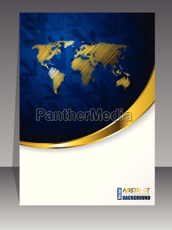 abstract blue gold brochure