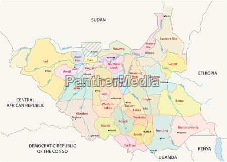 vektor verwaltungs und politische landkarte der