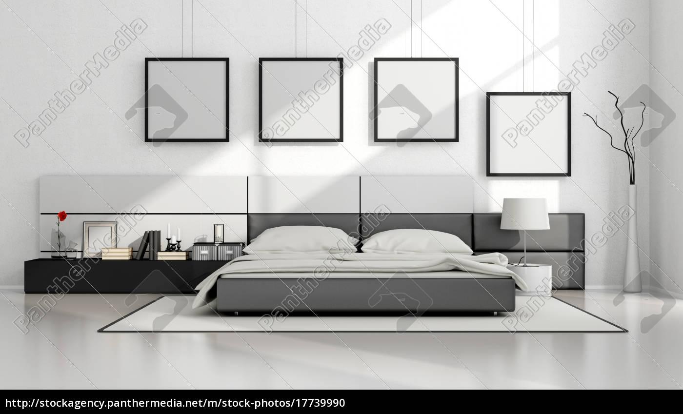 Stockfoto 17739990 - schwarz weiß minimalistischen schlafzimmer
