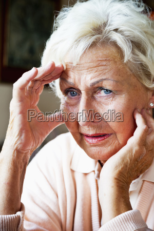close up of senior woman with