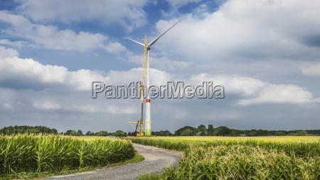construction of wind turbine alpen wesel