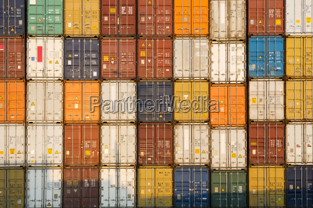 stack of containers in port iquique