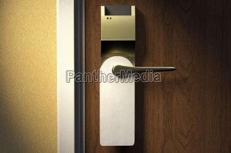 digital illustration of door handle of