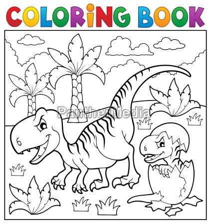 malbuch dinosaurier thema 9
