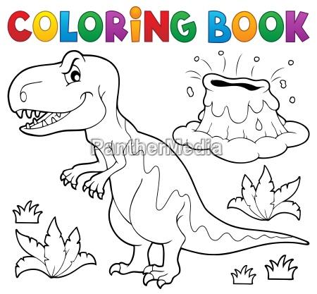 malbuch dinosaurier thema 1