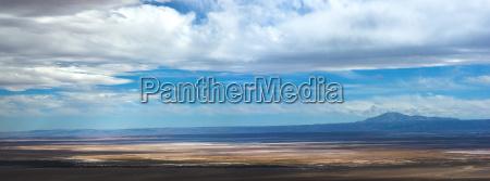 panoramic overview of atacama salt lake