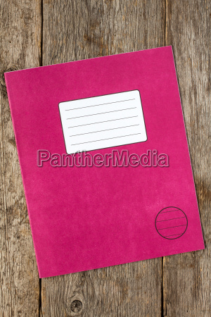 red exercise book