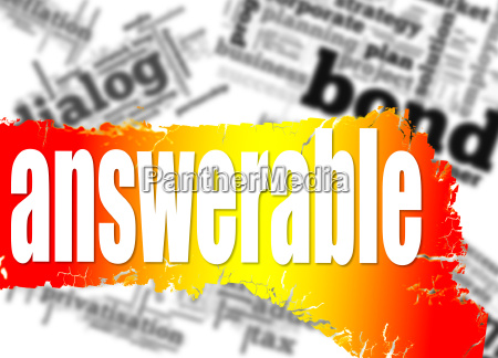 word cloud with answerable word