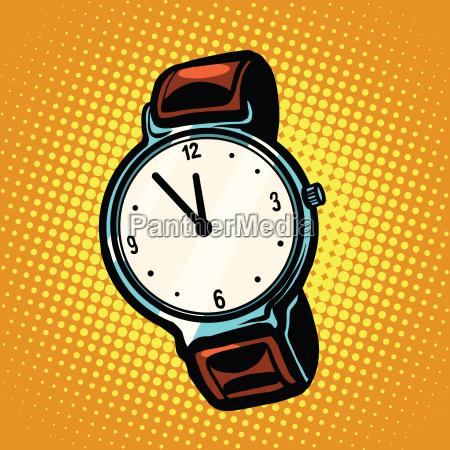 retro armbanduhr mit lederarmband
