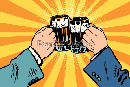 toasting haende bier party poster
