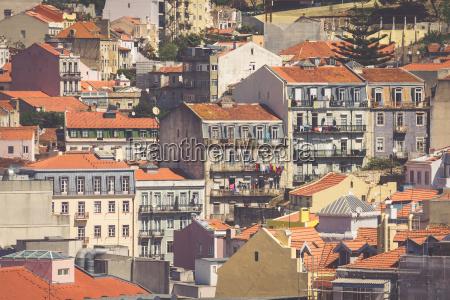 lissabon portugal skyline der stadt ueber