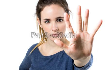 frau handbewegung menschen leute personen mensch