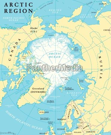 arctic region map