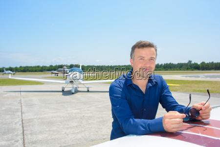 mann und flugzeuge