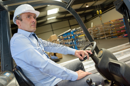 driving a vehicle in the warehouse
