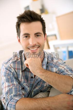 tipo personas gente hombre risilla sonrisas