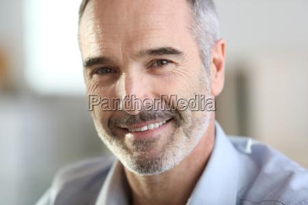 closeup of handsome senior man with