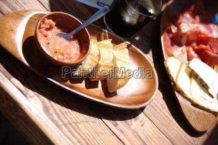 nahaufnahme der typisch spanischen tapas