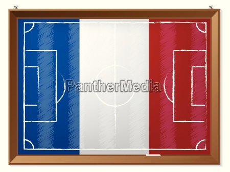 soccer field drawing with french flag