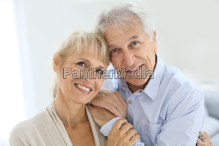 portrait of senior and happy senior