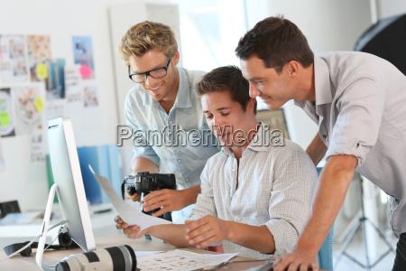 kreatives team von den fotografen die