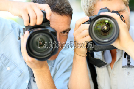 young men on a photography training