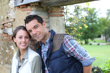 young couple choosing rural lifestyle