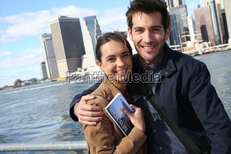 paar touristen in new york city