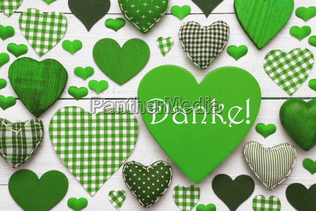 green heart texture with danke means