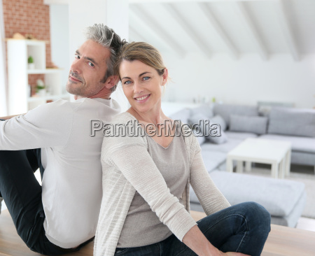 recently moved together couple in new