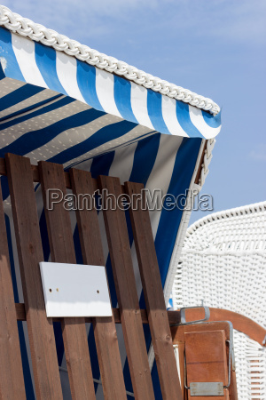 beach chair in the summer with
