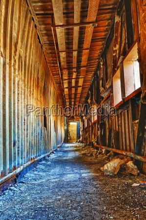 old abandoned ruin factory damage building