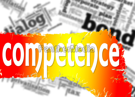 word cloud with competence word