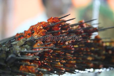 stapel von kebabs