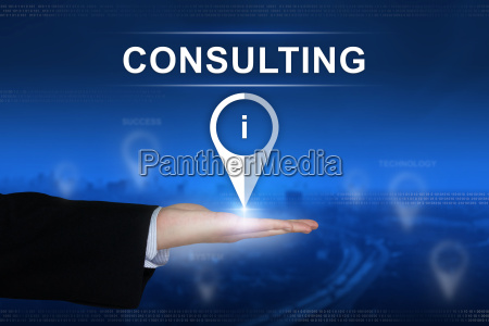 consulting button on blurred background