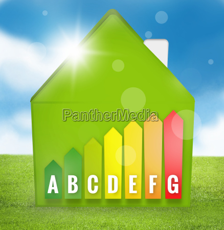 energy efficient house scale silhouette 3d