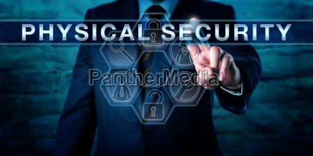 intelligence officer pushing physical security