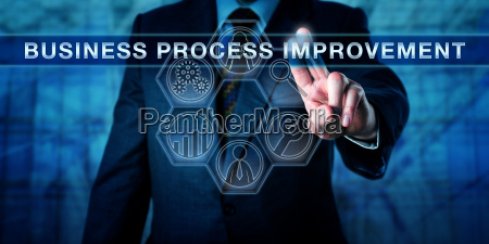 administrator pushing business process improvement
